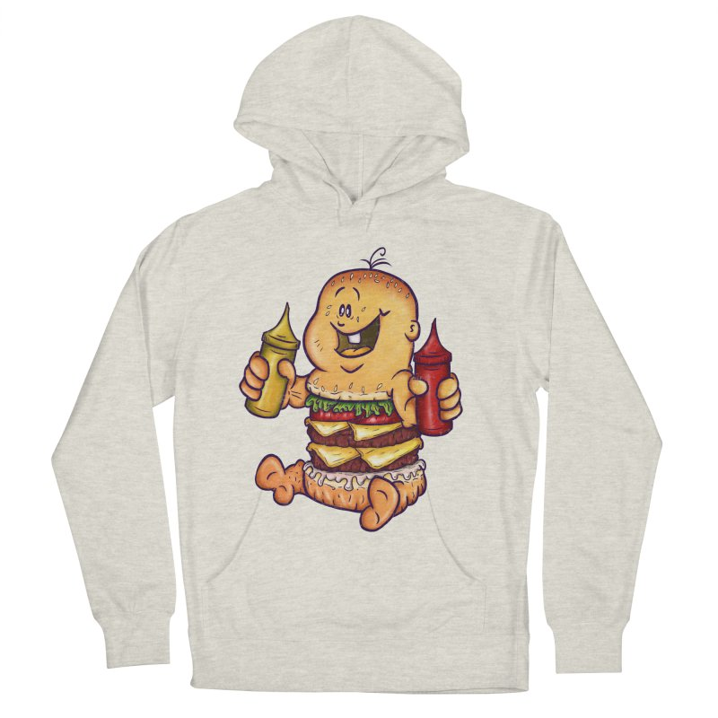 Baby Burger Men's French Terry Pullover Hoody by The Last Tsunami's Artist Shop