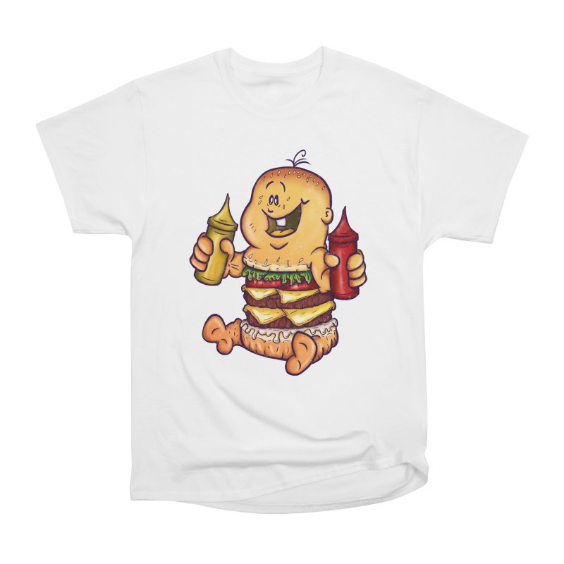 Baby Burger Women's Heavyweight Unisex T-Shirt by The Last Tsunami's Artist Shop