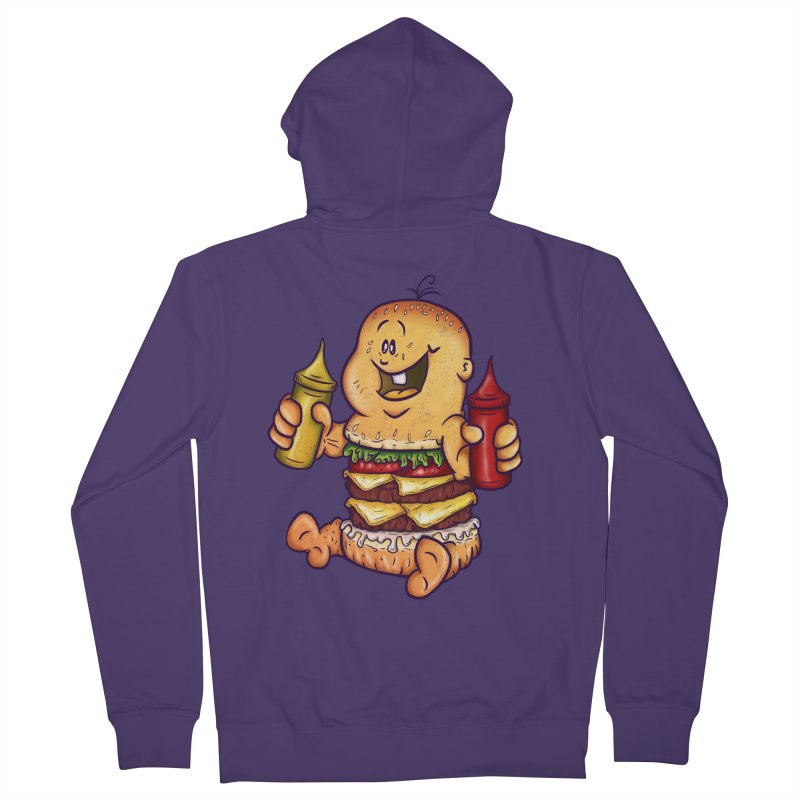 Baby Burger Women's Zip-Up Hoody by The Last Tsunami's Artist Shop