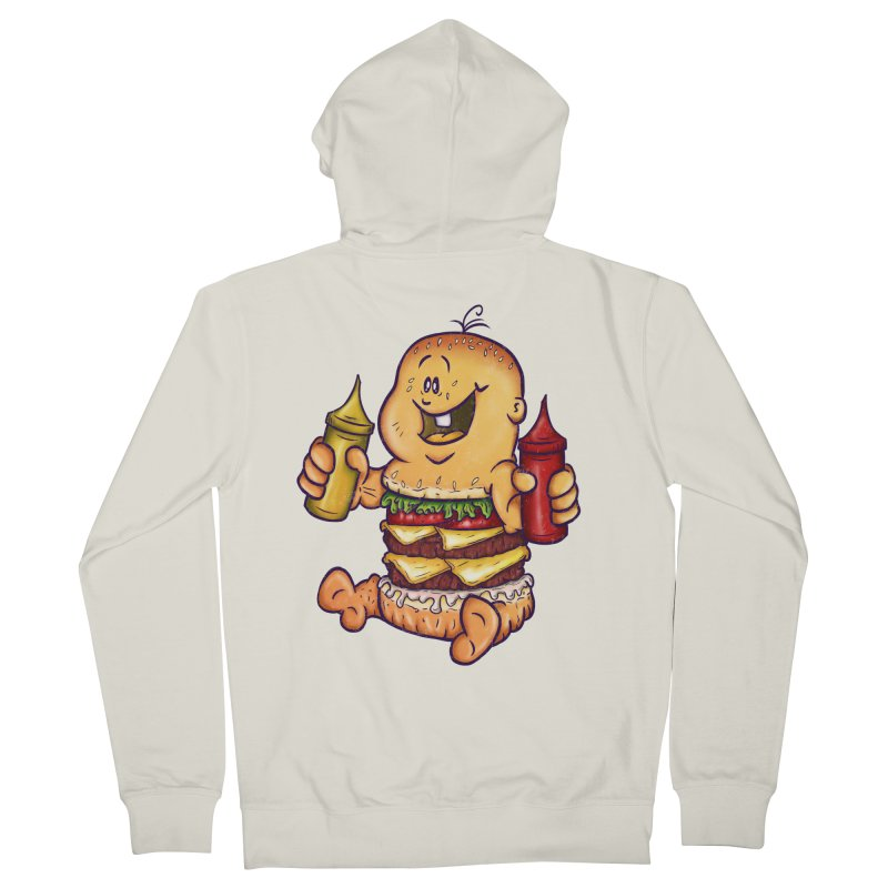 Baby Burger Women's French Terry Zip-Up Hoody by The Last Tsunami's Artist Shop