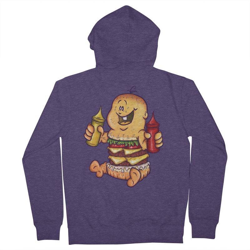 Baby Burger Men's Zip-Up Hoody by The Last Tsunami's Artist Shop