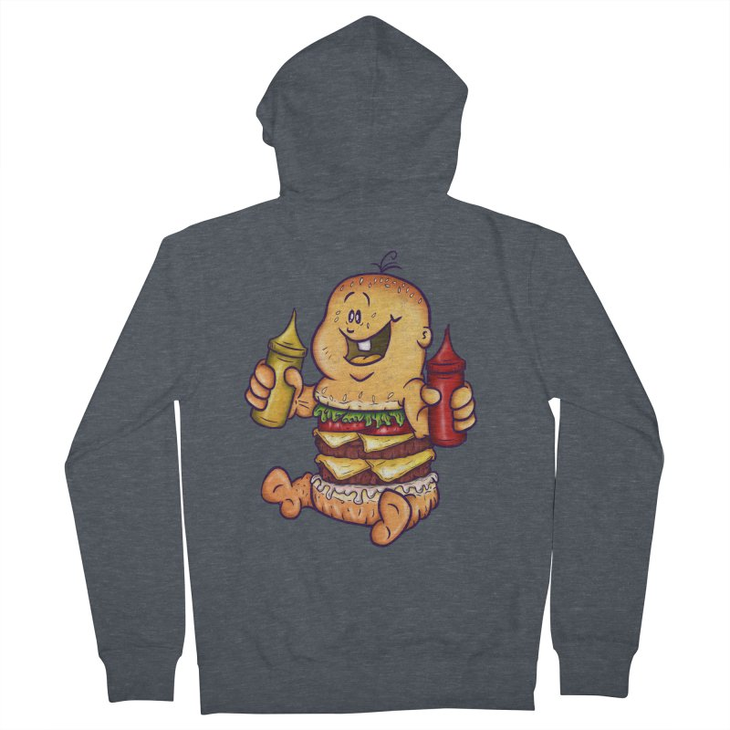 Baby Burger Men's French Terry Zip-Up Hoody by The Last Tsunami's Artist Shop