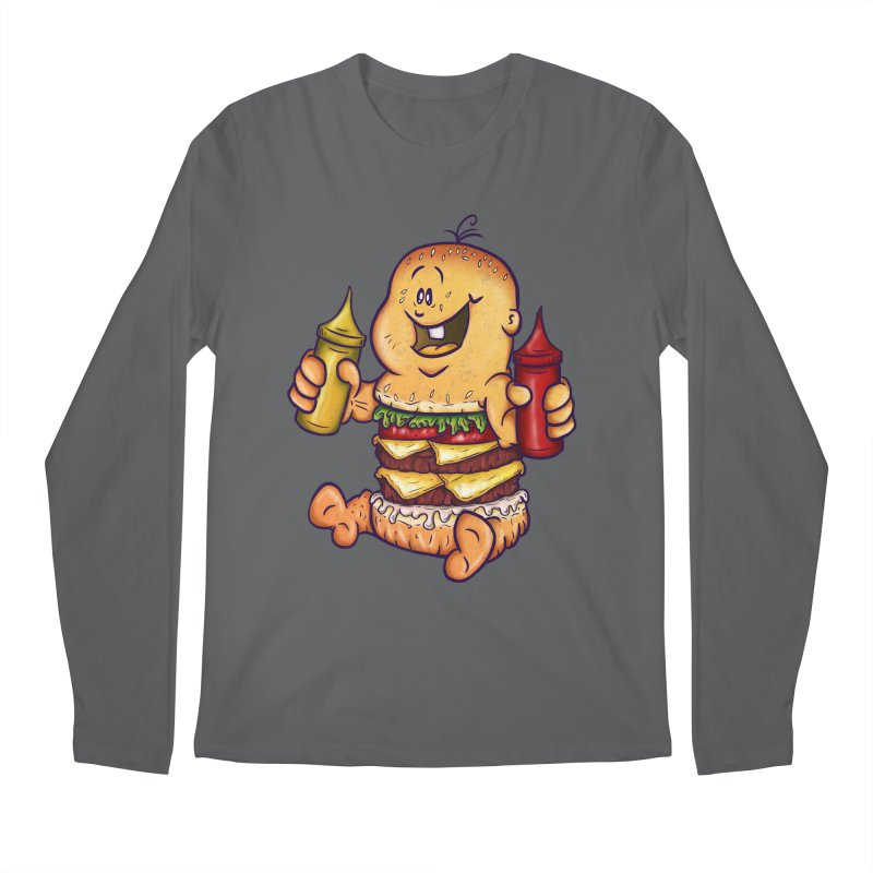Baby Burger Men's Longsleeve T-Shirt by The Last Tsunami's Artist Shop