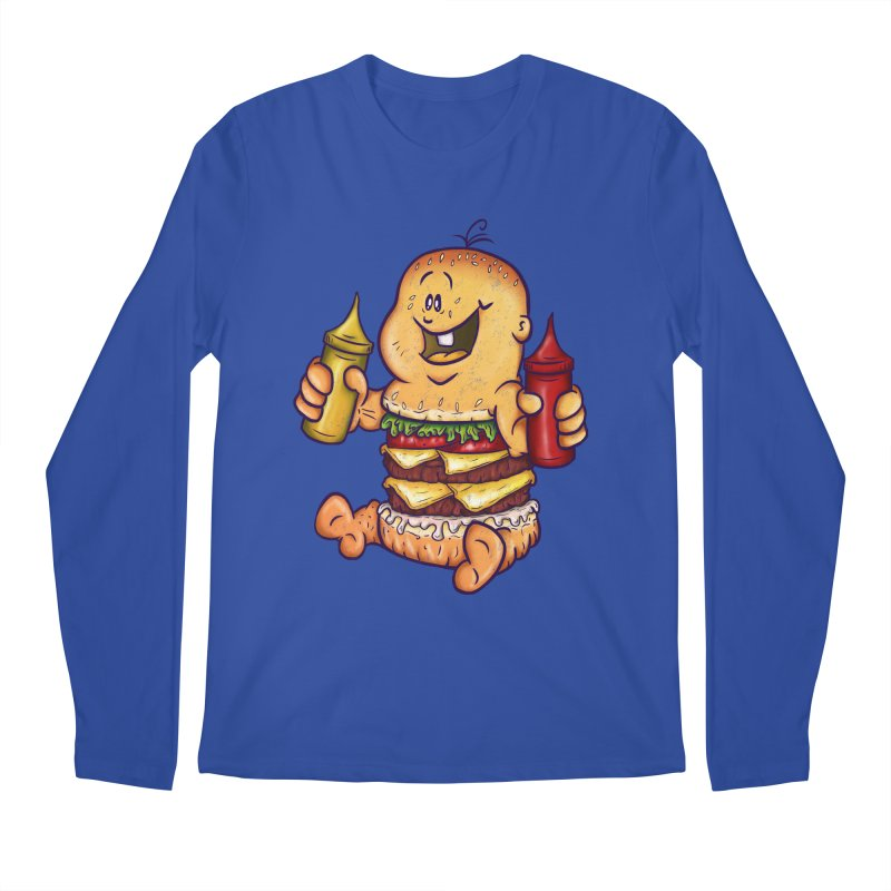 Baby Burger Men's Regular Longsleeve T-Shirt by The Last Tsunami's Artist Shop