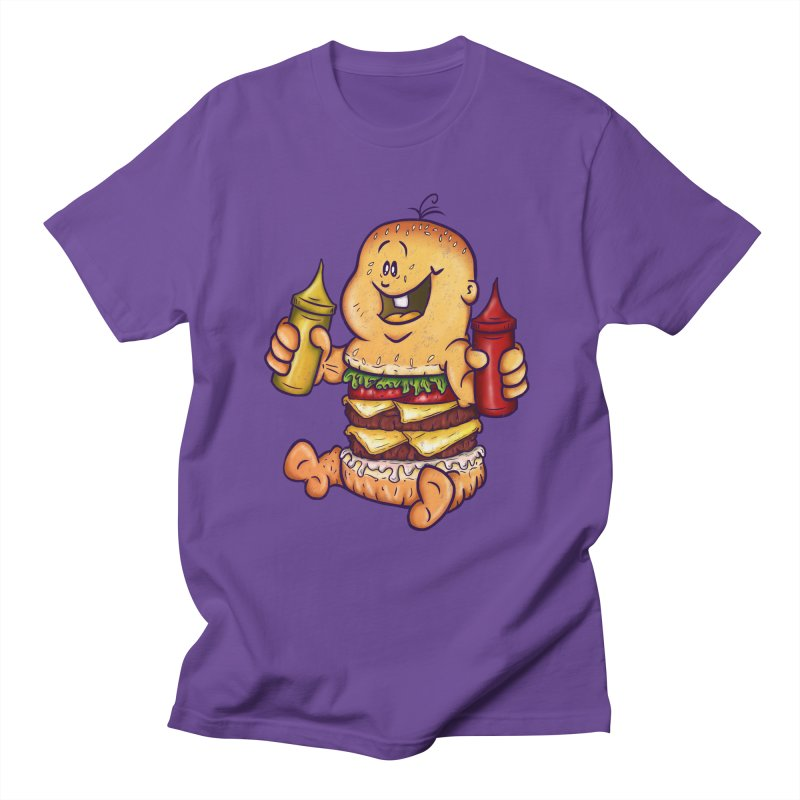 Baby Burger Women's Regular Unisex T-Shirt by The Last Tsunami's Artist Shop