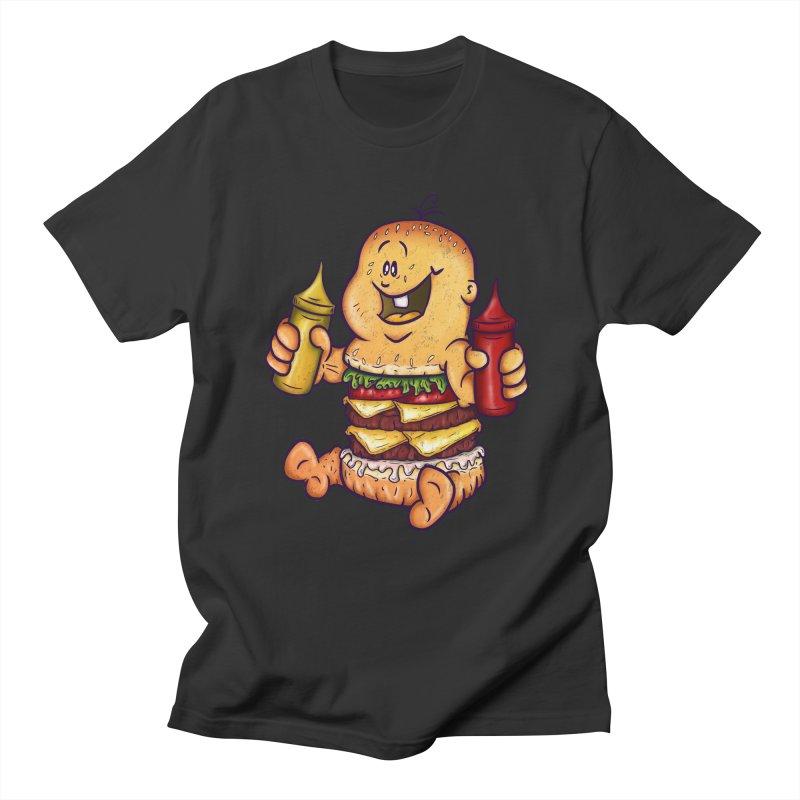Baby Burger Men's T-shirt by The Last Tsunami's Artist Shop