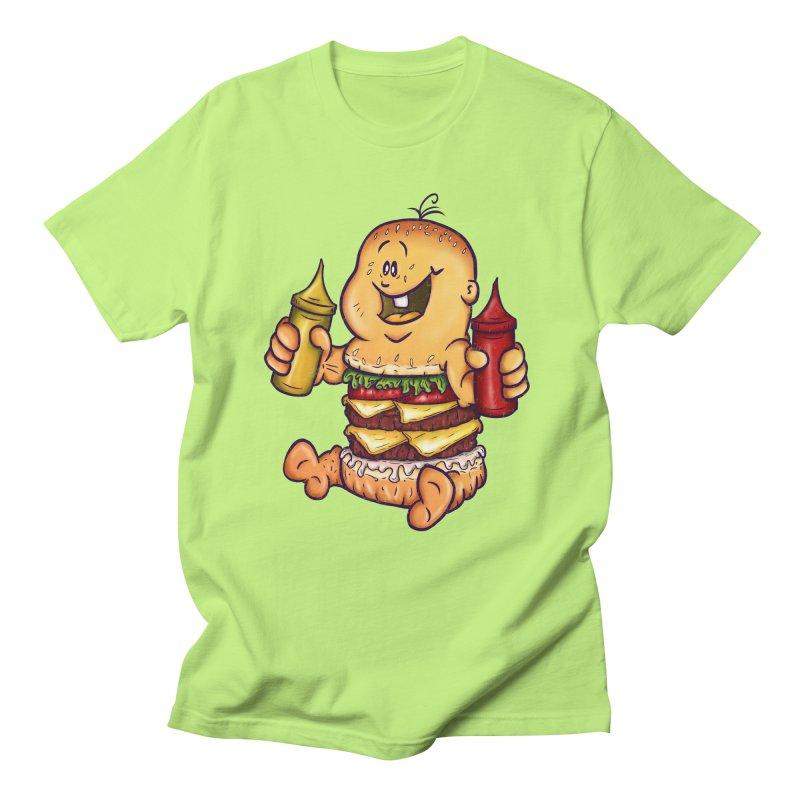 Baby Burger Women's Regular Unisex T-Shirt by The Last Tsunami's Artist Shop