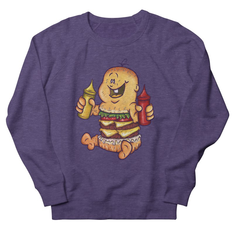 Baby Burger Women's French Terry Sweatshirt by The Last Tsunami's Artist Shop
