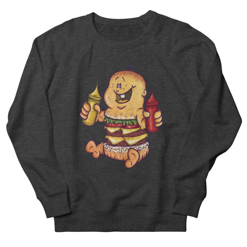 Baby Burger Men's French Terry Sweatshirt by The Last Tsunami's Artist Shop