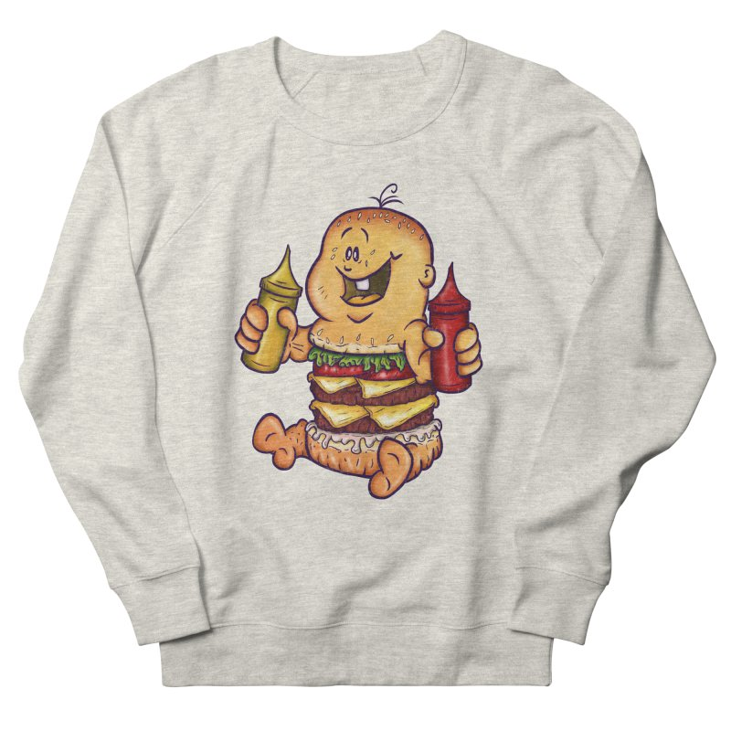 Baby Burger Men's Sweatshirt by The Last Tsunami's Artist Shop