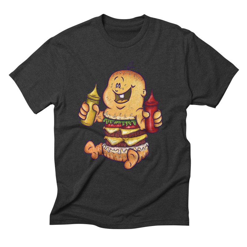 Baby Burger Men's Triblend T-Shirt by The Last Tsunami's Artist Shop