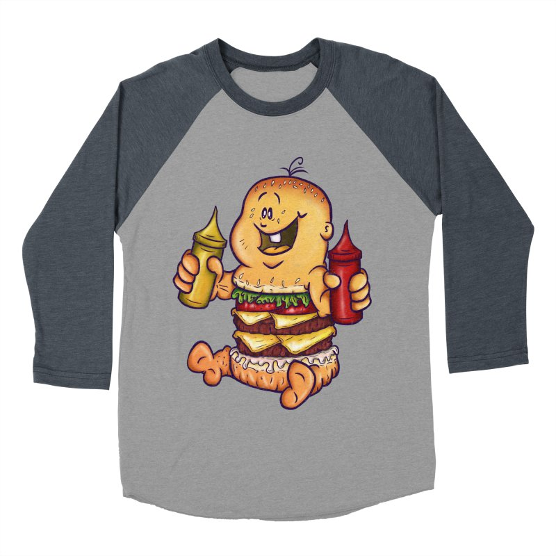 Baby Burger Women's Baseball Triblend Longsleeve T-Shirt by The Last Tsunami's Artist Shop