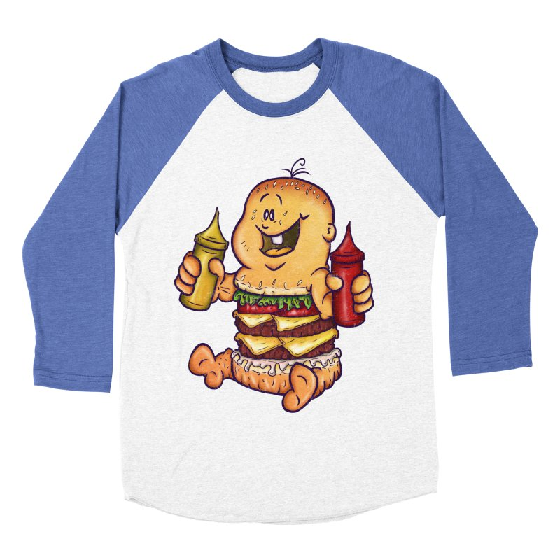 Baby Burger Men's Baseball Triblend Longsleeve T-Shirt by The Last Tsunami's Artist Shop