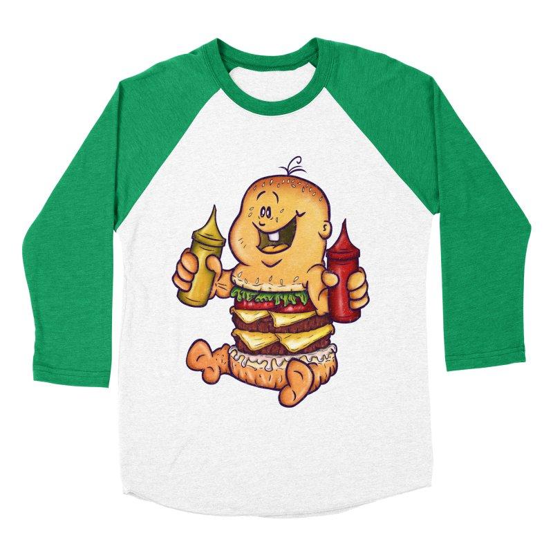 Baby Burger Men's Baseball Triblend T-Shirt by The Last Tsunami's Artist Shop