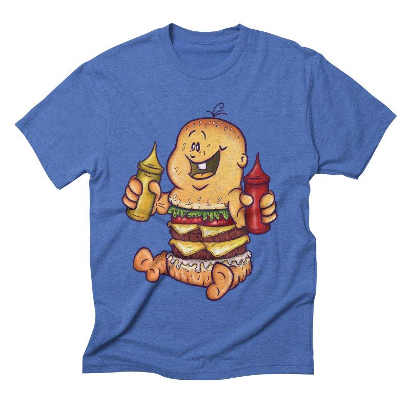 Baby Burger Men's Triblend T-shirt by The Last Tsunami's Artist Shop