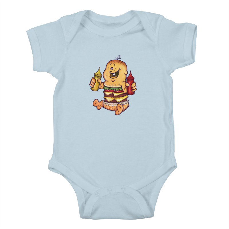 Baby Burger Kids Baby Bodysuit by The Last Tsunami's Artist Shop