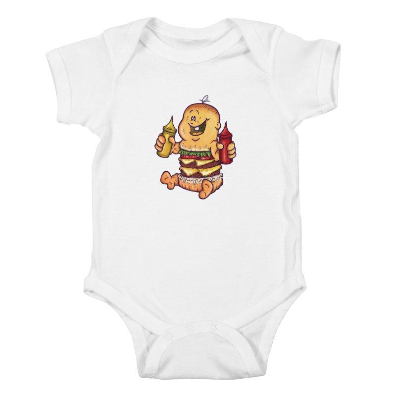 Baby Burger Kids Baby Bodysuit by The Last Tsunami's Artist Shop