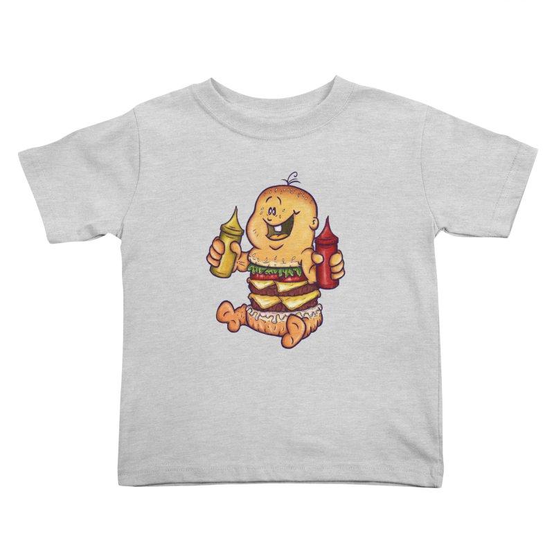Baby Burger Kids Toddler T-Shirt by The Last Tsunami's Artist Shop
