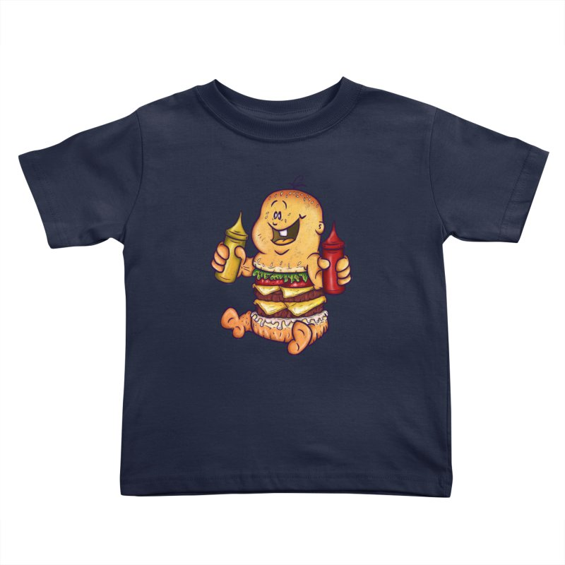 Baby Burger Kids Toddler T-Shirt by The Last Tsunami's Artist Shop