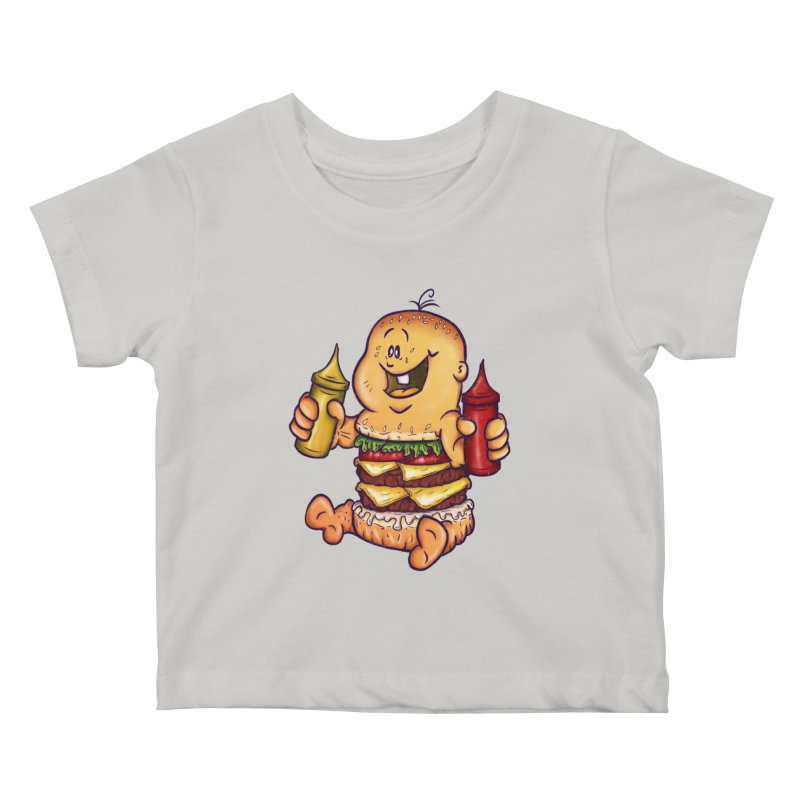 Baby Burger Kids Baby T-Shirt by The Last Tsunami's Artist Shop