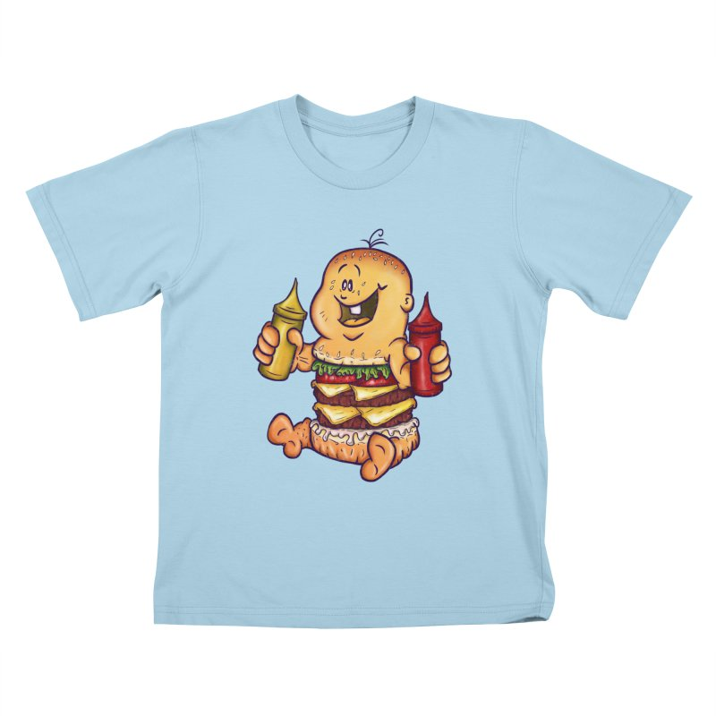 Baby Burger Kids T-Shirt by The Last Tsunami's Artist Shop