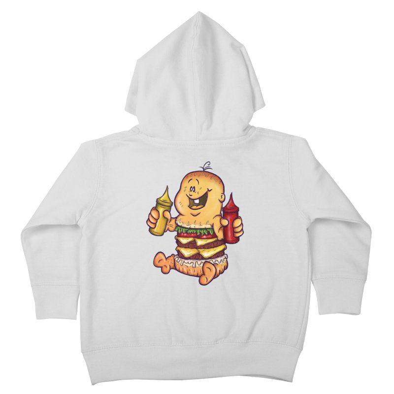 Baby Burger Kids Toddler Zip-Up Hoody by The Last Tsunami's Artist Shop