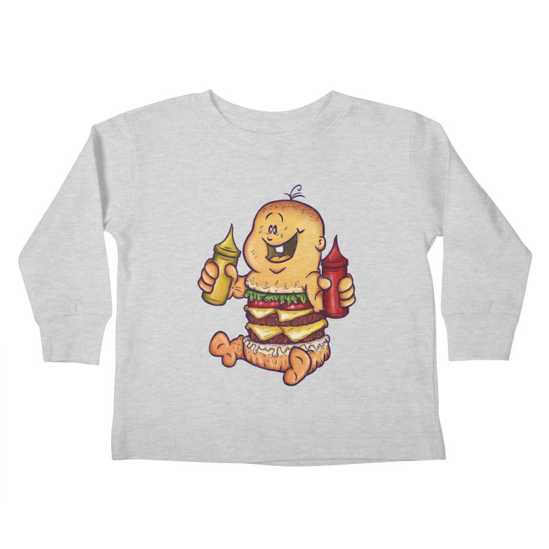Baby Burger Kids Toddler Longsleeve T-Shirt by The Last Tsunami's Artist Shop