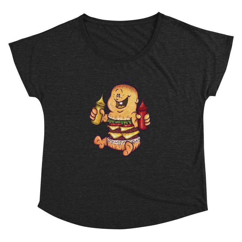 Baby Burger Women's Dolman Scoop Neck by The Last Tsunami's Artist Shop
