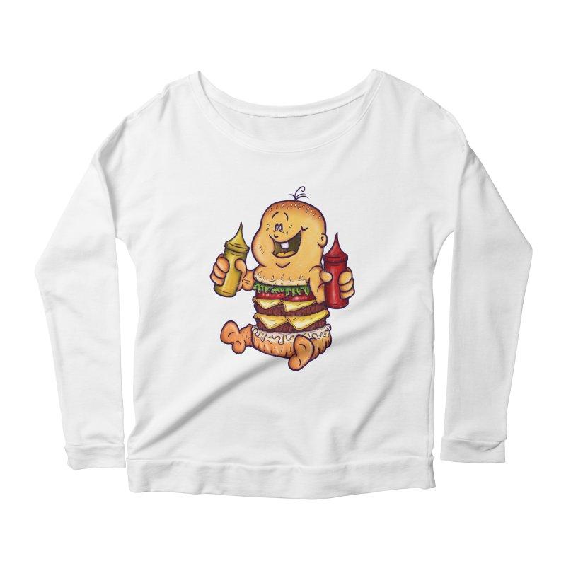 Baby Burger Women's Longsleeve Scoopneck  by The Last Tsunami's Artist Shop