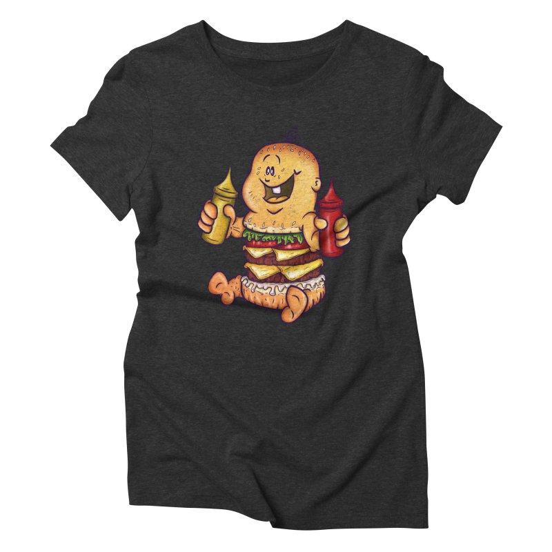 Baby Burger Women's Triblend T-shirt by The Last Tsunami's Artist Shop