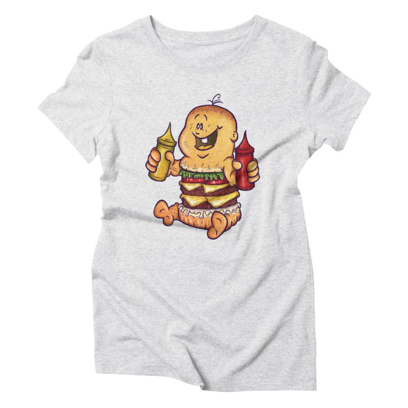 Baby Burger Women's Triblend T-Shirt by The Last Tsunami's Artist Shop