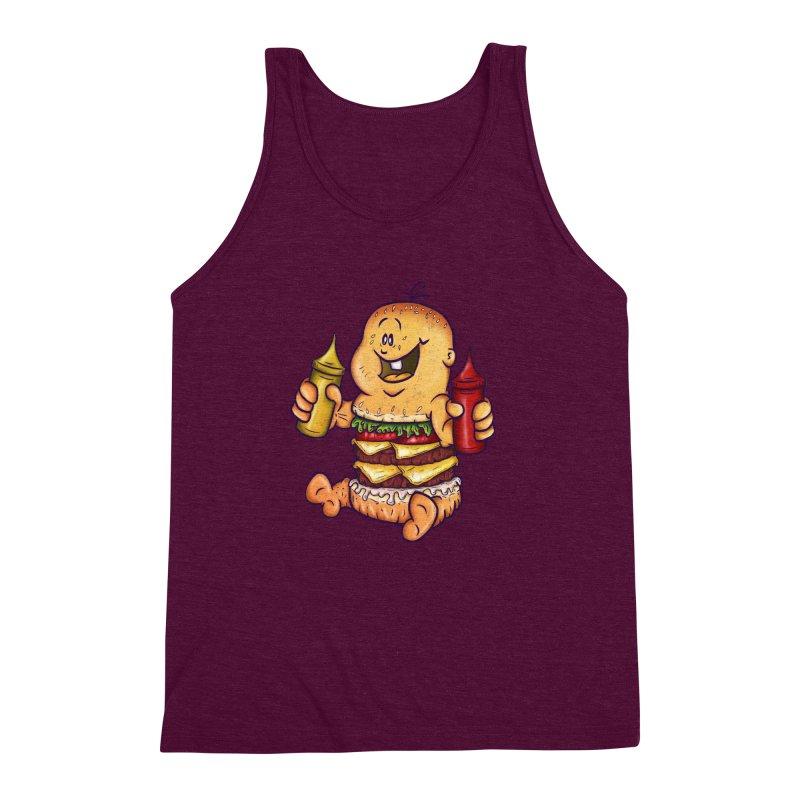 Baby Burger Men's Triblend Tank by The Last Tsunami's Artist Shop