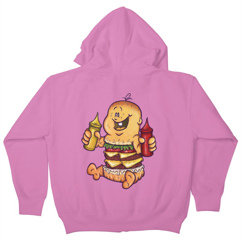 Baby Burger Kids Zip-Up Hoody by The Last Tsunami's Artist Shop