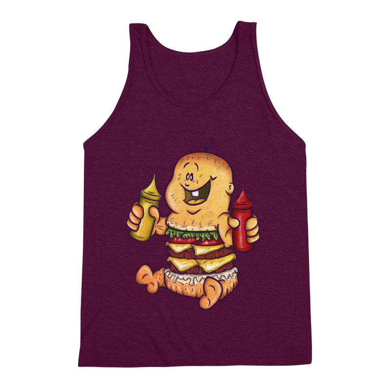 Baby Burger Men's Triblend Tank by The Last Tsunami's Artist Shop