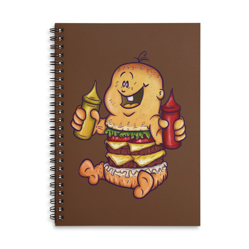 Baby Burger Accessories Lined Spiral Notebook by The Last Tsunami's Artist Shop