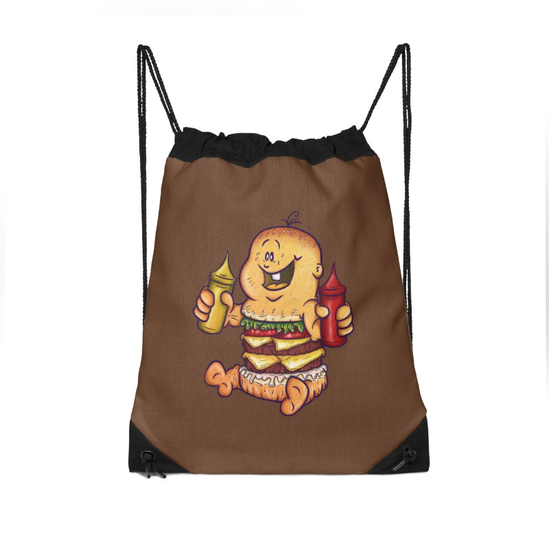 Baby Burger Accessories Drawstring Bag Bag by The Last Tsunami's Artist Shop