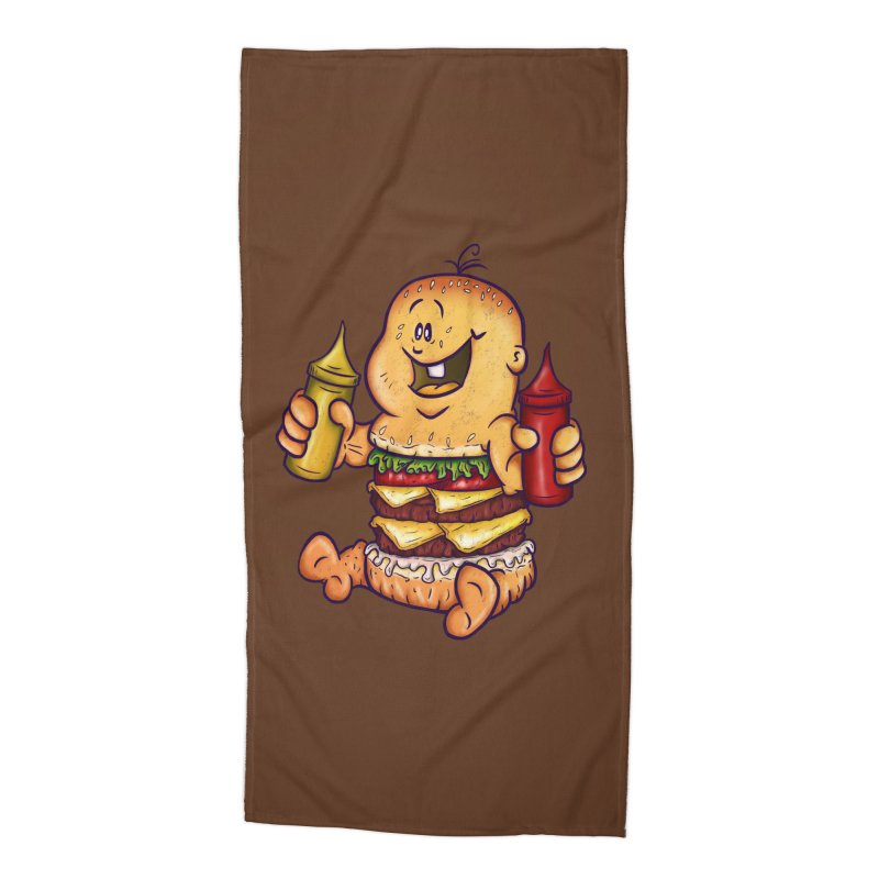 Baby Burger Accessories Beach Towel by The Last Tsunami's Artist Shop