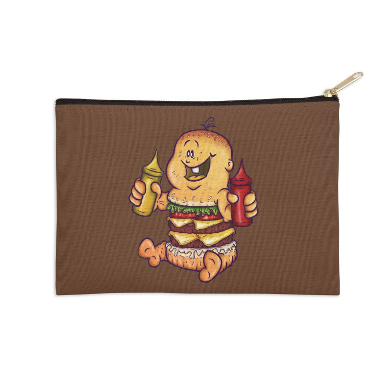Baby Burger Accessories Zip Pouch by The Last Tsunami's Artist Shop