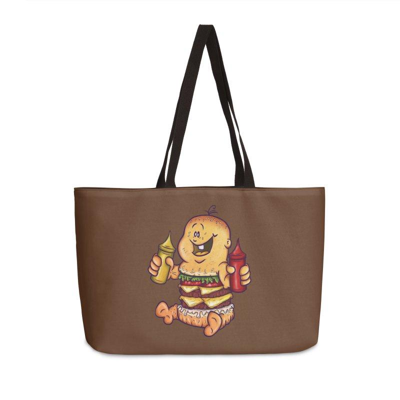 Baby Burger Accessories Weekender Bag Bag by The Last Tsunami's Artist Shop