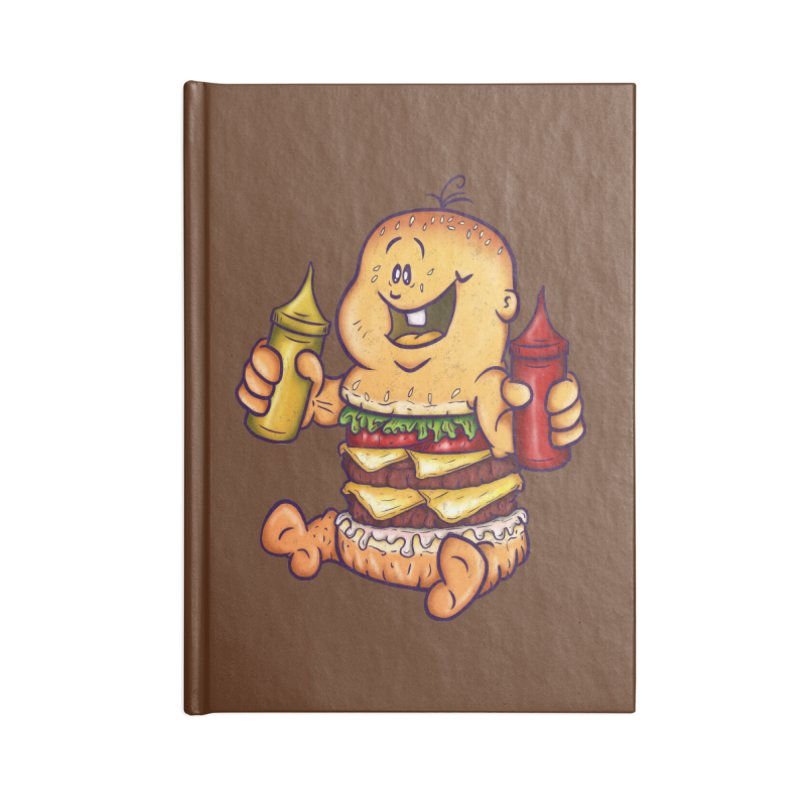 Baby Burger Accessories Lined Journal Notebook by The Last Tsunami's Artist Shop