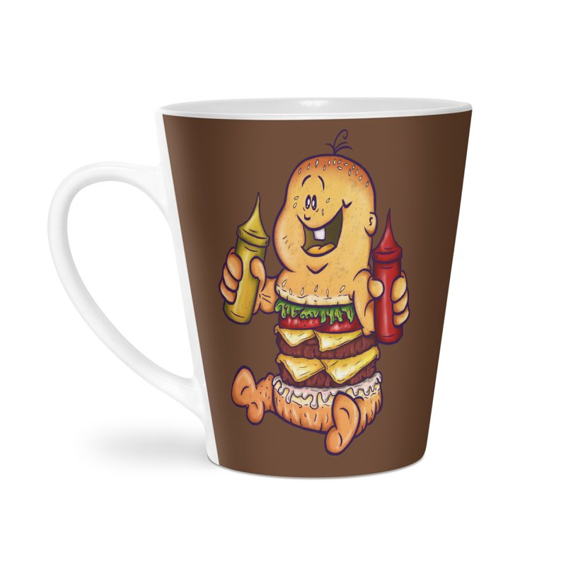 Baby Burger Accessories Latte Mug by The Last Tsunami's Artist Shop