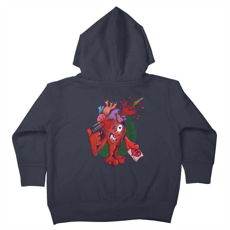 Got you on my mind Kids Toddler Zip-Up Hoody by The Last Tsunami's Artist Shop