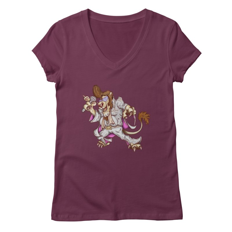 The King Women's V-Neck by The Last Tsunami's Artist Shop