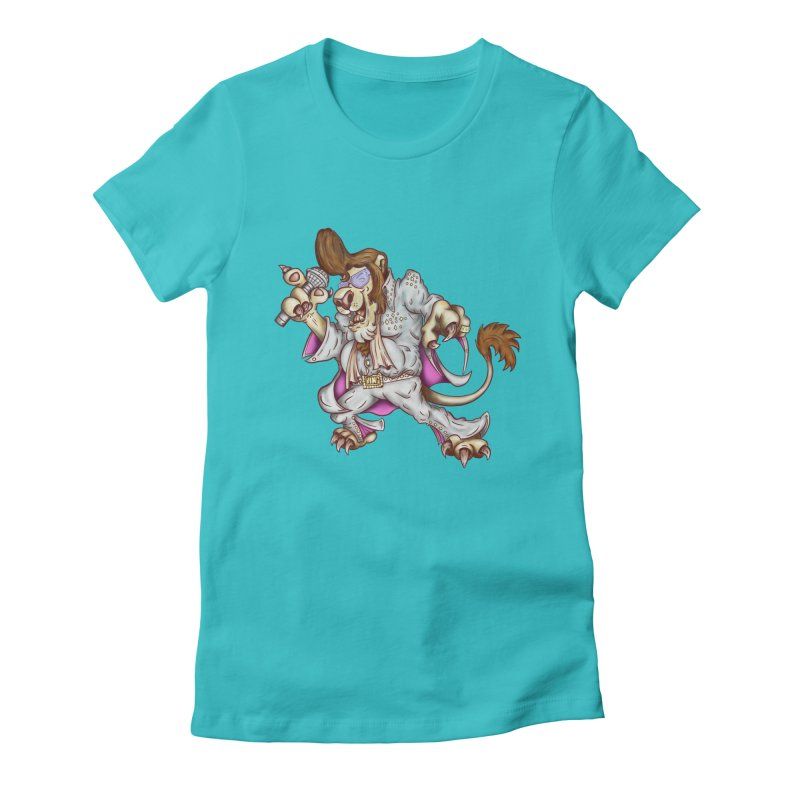 The King Women's Fitted T-Shirt by The Last Tsunami's Artist Shop