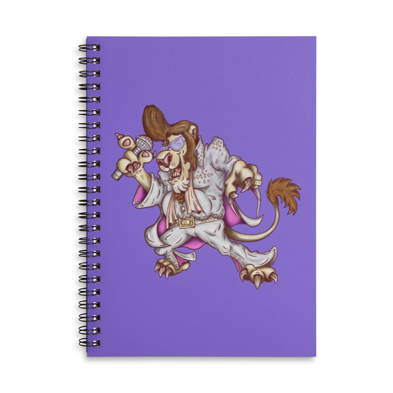 The King Accessories Lined Spiral Notebook by The Last Tsunami's Artist Shop