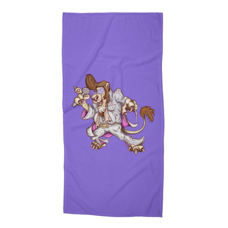 The King Accessories Beach Towel by The Last Tsunami's Artist Shop