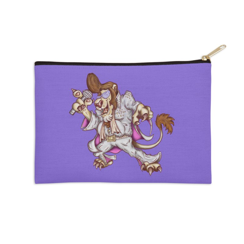 The King Accessories Zip Pouch by The Last Tsunami's Artist Shop