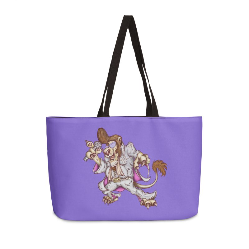 The King Accessories Weekender Bag Bag by The Last Tsunami's Artist Shop