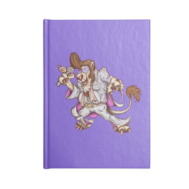 The King Accessories Lined Journal Notebook by The Last Tsunami's Artist Shop