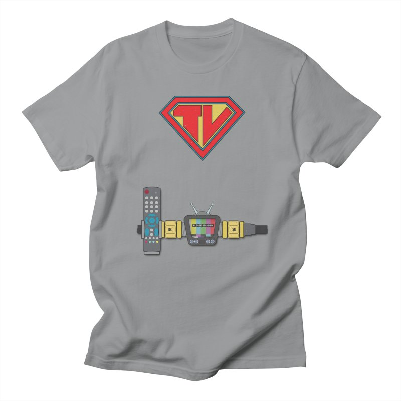 Super TV Man Women's Regular Unisex T-Shirt by The Last Tsunami's Artist Shop